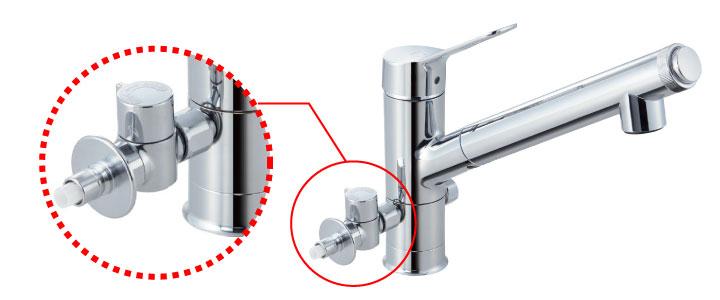※取替アダプターは水栓に同梱されています。